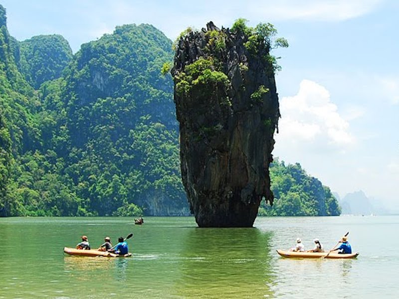 James Bond Island Sightseeing and Kayaking Tour by Longtail Boat from Krabi - Joint Tour