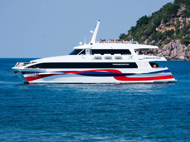 Koh Samui to Surat Thani Train Station by Combined Catamaran+Coach